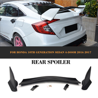 Black ABS Rear Trunk Boot Race Spoiler Wing for Honda Civic 10th Generation Sedan 4 Door Only 2016 2017 Car Styling