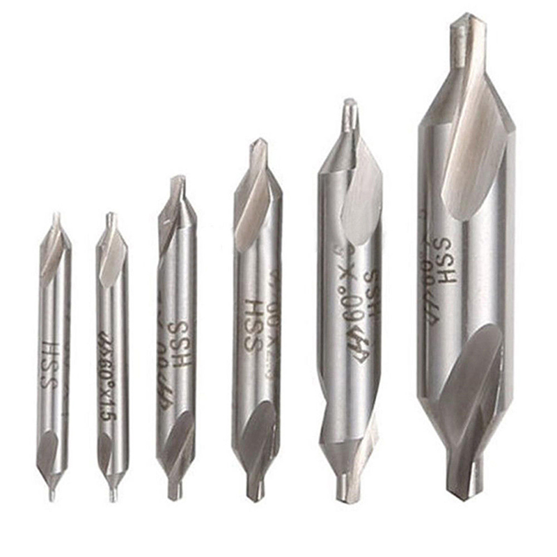 Combined Countersink Bits Center Drill Sets 6 Pcs//Lot Power Tools For Wood Works