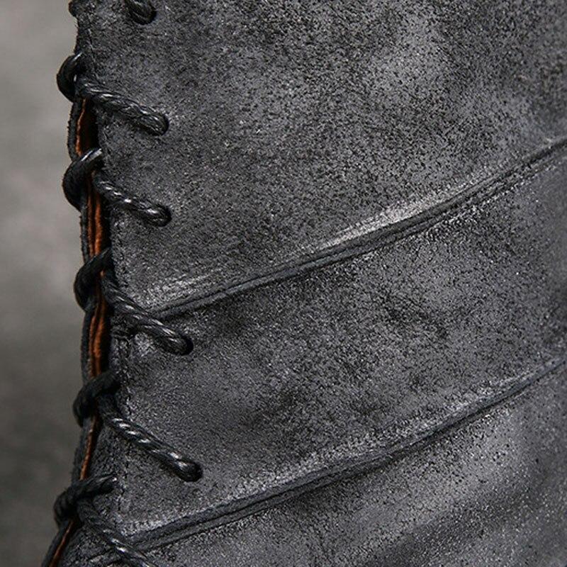 Matte Herbst Reiben Neue 1 Vintage Kopf Flusen 2 Martin Farbe Runde Winter Handgemachte Stiefel Flache Und Warme Mit Leder Frauen 5PX1qP