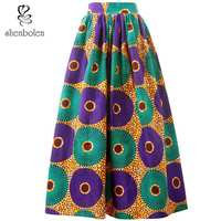 Shenbolen Africa clothes for women gonne africane skirt traditional clothing ankara print dashiki maxi skirts