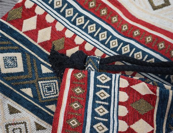 HTB1HtRXdUR1BeNjy0Fmq6z0wVXaF LilyHood Women Fabric Backpack Female Gypsy Bohemian Boho Chic Aztec Ibiza Tribal Ethnic Ibiza Brown Drawstring Rucksack Bags
