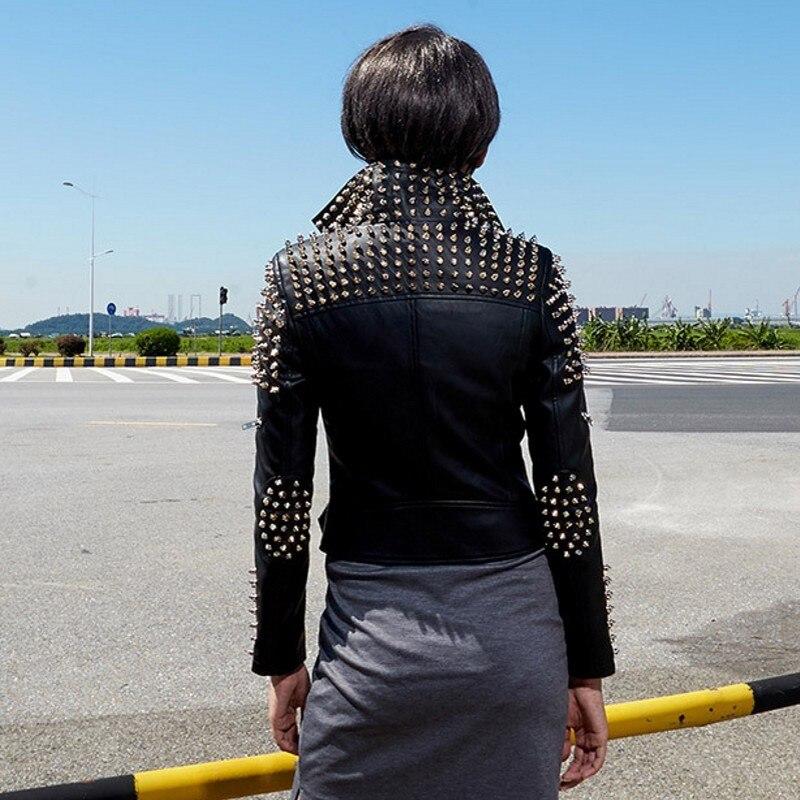 Vestes Mujer De Cuir Printemps Chaquetas Noir Biker En Femme Court Veste Ceinturé silver Rivet Pu Black Argent Motor Automne Femmes Nouveau U6UrqTFz