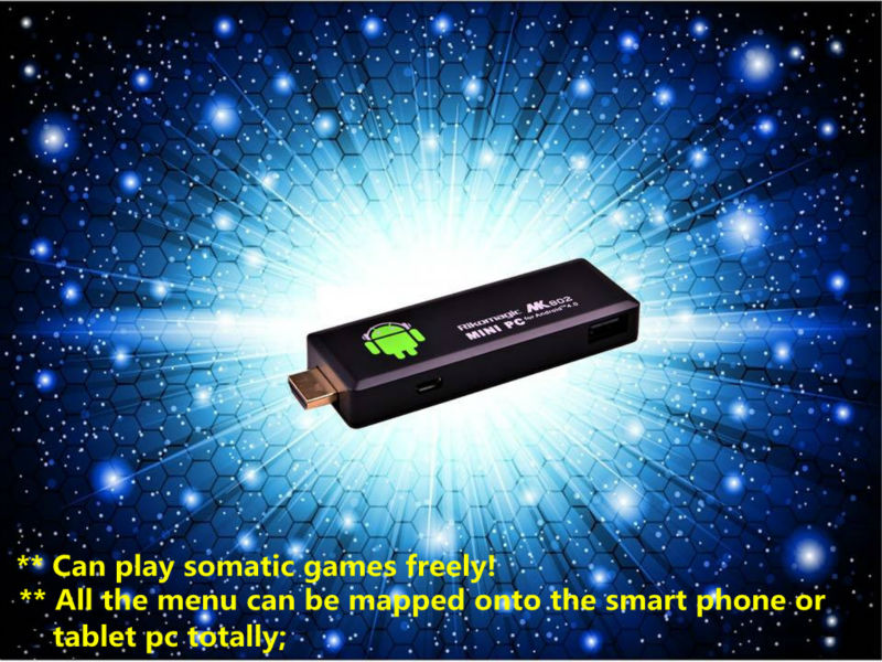 Rikomagic MK802 II Android4.0 MINI PC Smart phone remote controll somatic games supported  A10 Cortex A8 1GB RAM 4G ROM[K802II]