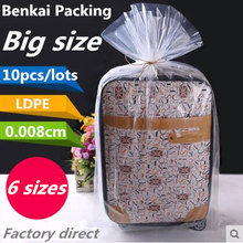 10pcs/Lot PE Flat Pocket Food Compression Vacuum Bag 8 Wire High Pressure Transparent Plastic Heat Sealed