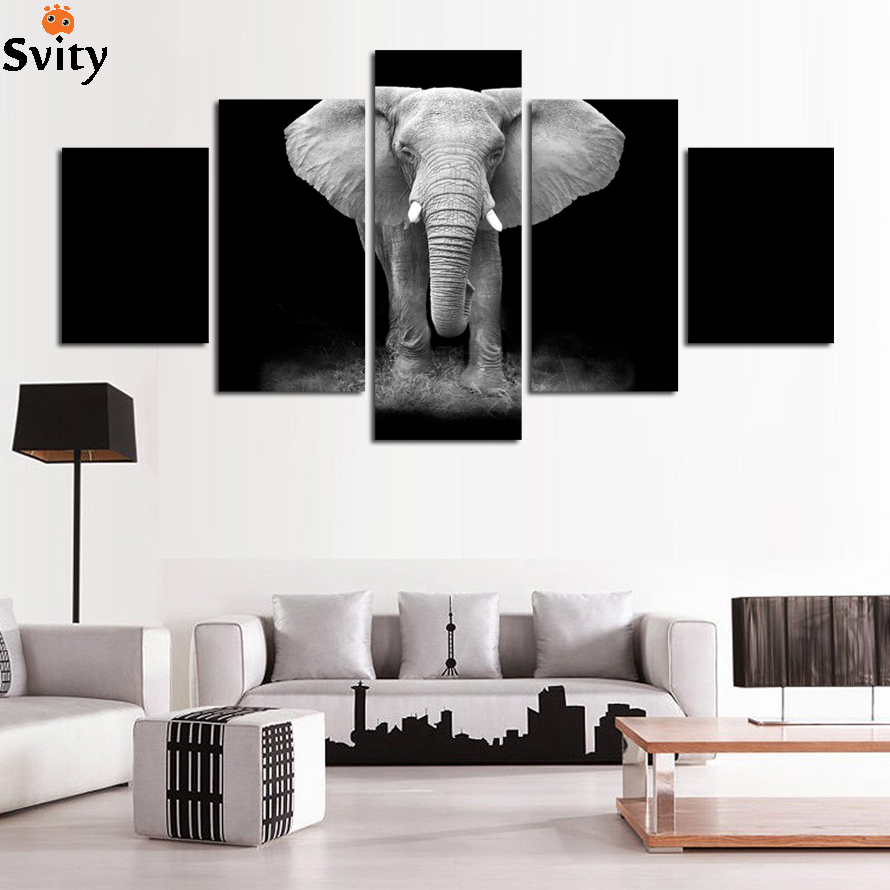 Clearance Sale Elephant Baby Animals Art Print Poster, Safari Animals Picture Canvas Painting Kids Room Nursery Wall Decor DR001