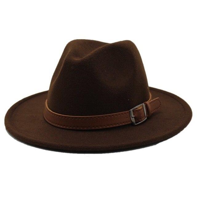 a204c51c7ff07a קנו גברים ' s כובעים | Seioum Special Felt Hat Men Fedora Hats with ...