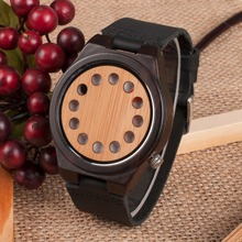 BOBO BIRD L-D05 Men's Gender and Wooden Material luxury wood Watch