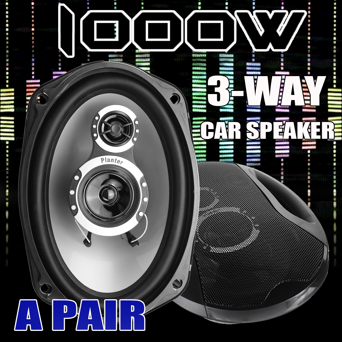 A Pair 6x9 Inch 3-Way Twin Tone Auto Car Door Shelf Coaxial Speakers 12V 1000W High Frequency Hifi Subwoofers Sound Loudspeaker auto door component speakers a pair 2 way 2x180w 6x9 inch universal coaxial car speakers car audio stereo speaker