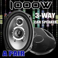 A Pair 6x9 Inch 3 Way Twin Tone Auto Car Door Shelf Coaxial Speakers 12V 1000W High Frequency Hifi Subwoofers Sound Loudspeaker