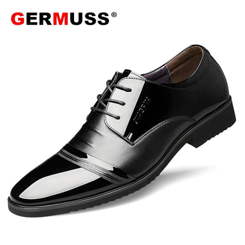 New2018 Oxford Shoes For Men Business office Lace Up Leather Official dress shoes mens Formal Shoes Wedding Pointed Toe designer