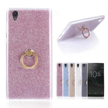 For Sony Xperia L1 Case Transparent Soft TPU Case Glitter Metal Ring back cover For Sony Xperia L1 5.5inch Case