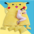 Fancytrader  Anime Pokemon Pikachu Sleeping Bag  Cartoon Mattress Giant Pikachu Double Bed Cushion Plush Memory Foam Tatami