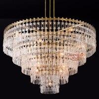 Modern Crystal Chandelier Lighting Vintage Cristal Hanging Chandeliers Interior Light Fixtures for Living Dining Room Decoration