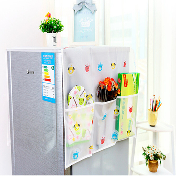 Transparent Printing Waterproof Refrigerator Cover Towel Household Appliances Washable Storage Bags Kitchen Accessories