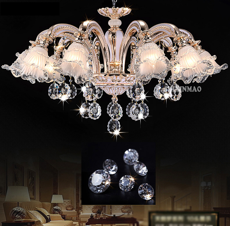 SHIXINMAO Lustre de Cristal lustres de cristal Da Lâmpada Sala de estar de Luxo Luzes interiores de Pingentes de Cristal Para Lustres