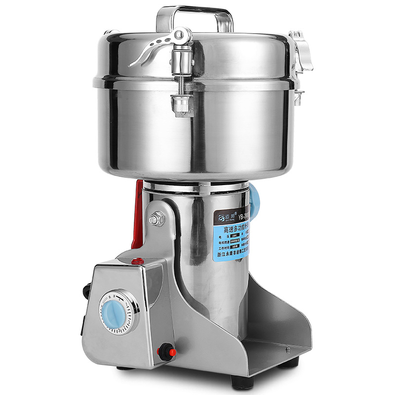 Household Grain Mill Grinding Machine YB-2000A Commercial Electric Chinese Medicine Powder Machine Super Fine Grinding Machine