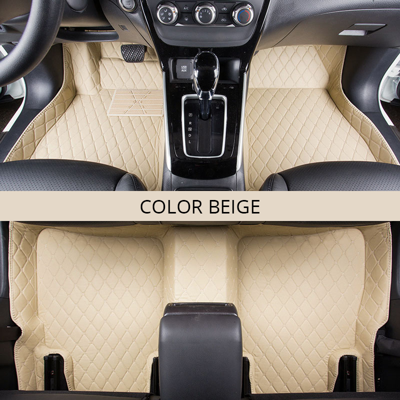 For LHD KIA RIO K2 4 2017 Car Floor Mats Cars Custom Rugs Carpet Artificial Leather Black Red Covers Interior Auto Accessories In From