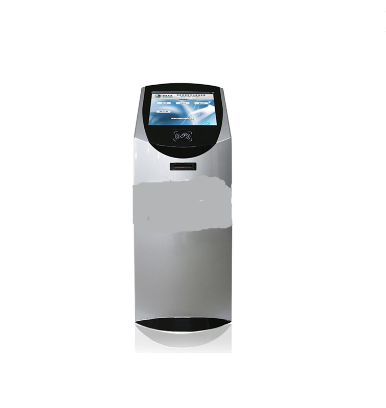 Floor Standing 17 Inch Terminal Self-service Interactive Information Kiosk With Ticket Printer