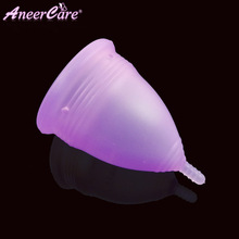 Feminine hygiene products pink bassrose cup menstruation silicone copa menstrual cup menstrual Reusable copa menstrual natur