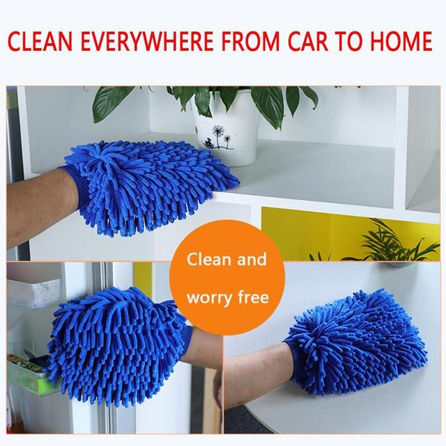 Car Wash  Cleaning  Washing Microfiber Chenille Mitt Auto Glove Dust Washer Window Washing Tool Cleaning Car Wash Glove 4