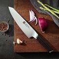 XINZUO 8 ''нож шеф-повара из немецкой нержавеющей стали Новое поступление нож для мясника Santoku Овощной профессиональный нож с эбеновой ручкой