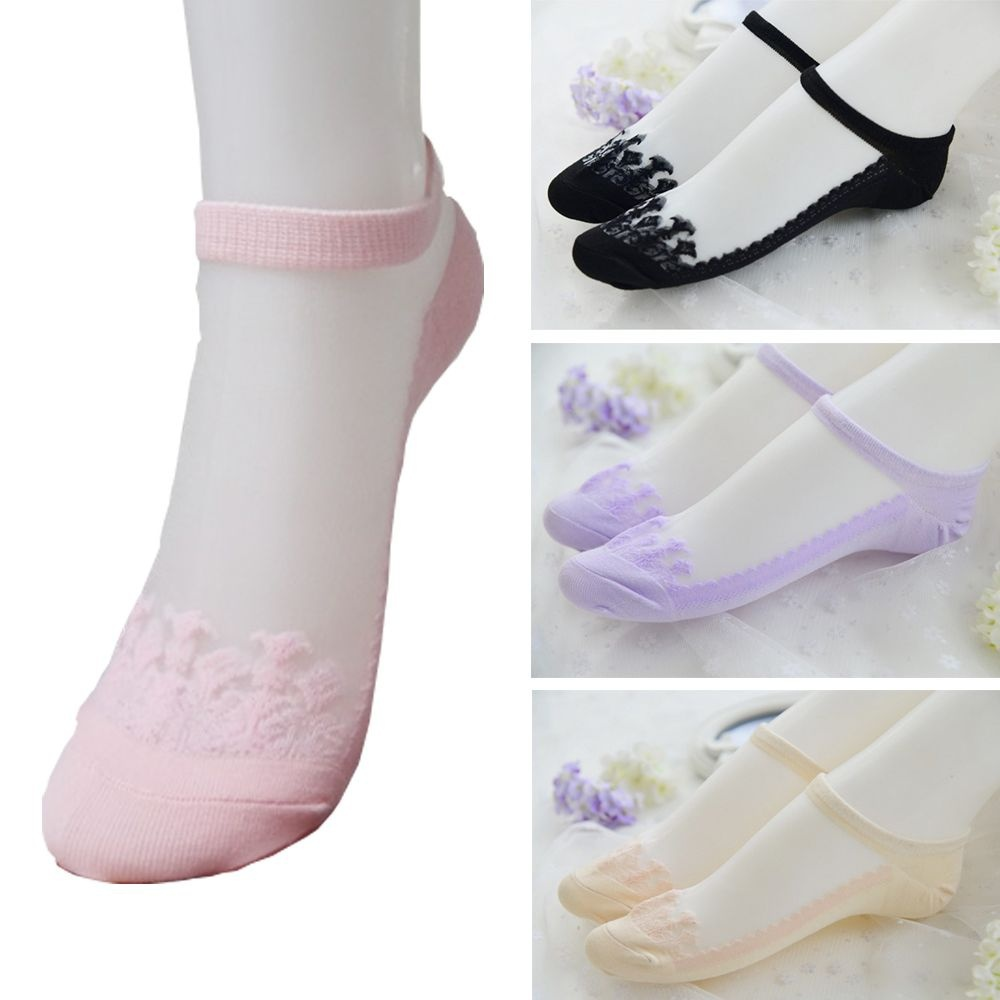 Spring Summer Breathable Women Low No Mesh Lady Cut Short Boat Socks Patchwork Invisible Cotton Socks