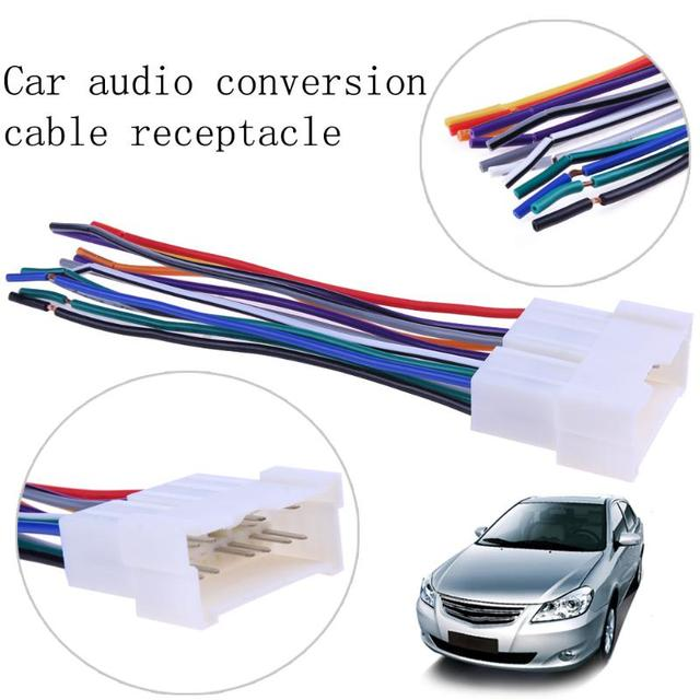 130mm 5 12 car stereo cd player wiring harness wire aftermarket rh aliexpress com Nissan Hardbody Aftermarket Wiring Harness Classic Car Wiring Harness