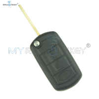 Flip remote car key 434 mhz for Landrover LR3 Range Rover sport HU92 3 button ID46 chip on circuit board remtekey
