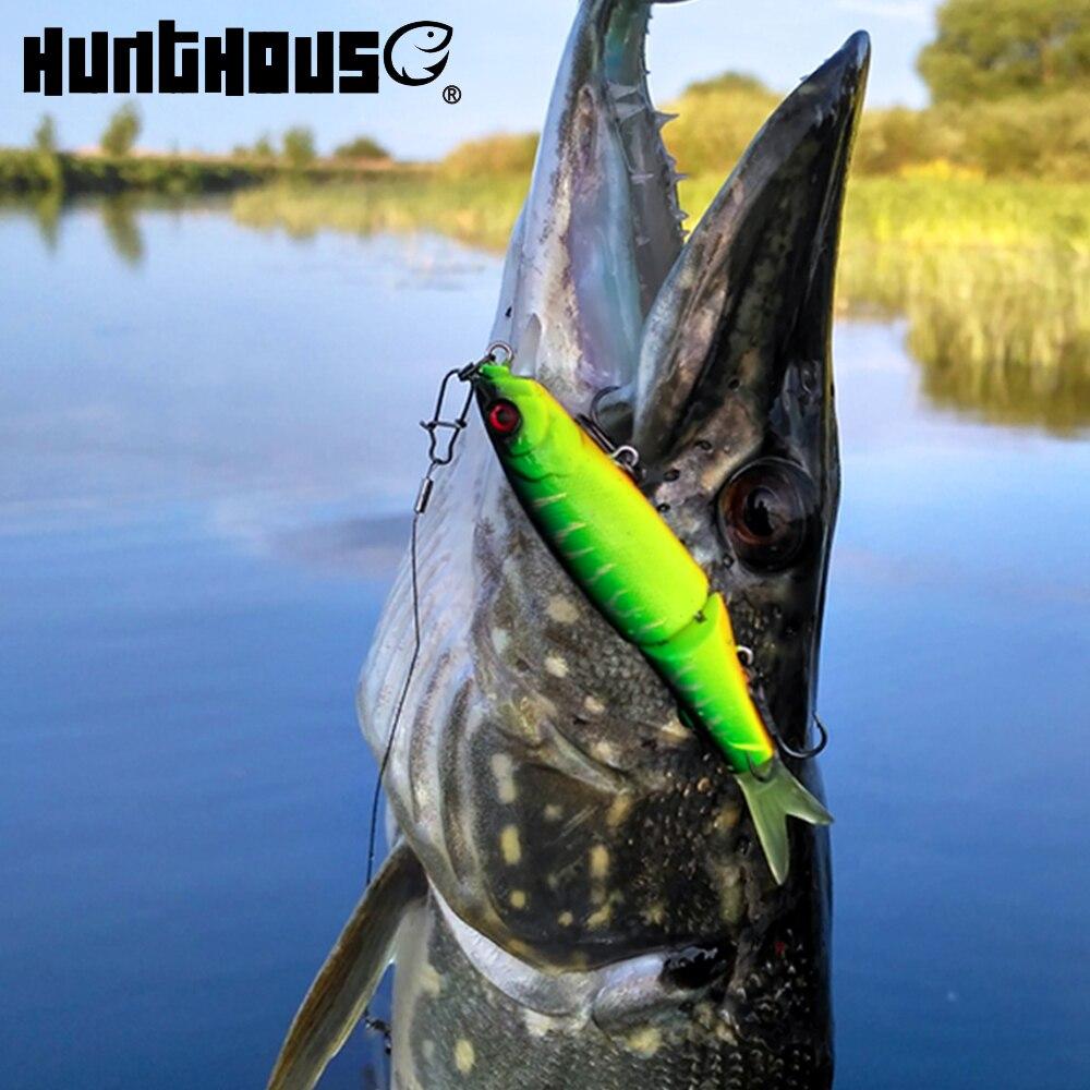 Hunthouse 9 cm 7,4g jointed köder weichen schwanz minnow locken VMC haken noeby locken jackall magallon tauchen neue produkte förderung