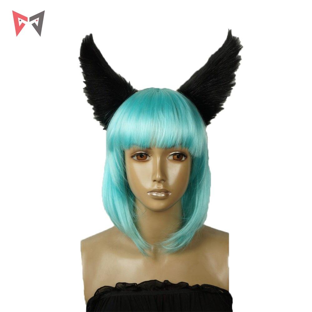 MMGG Anime LOL  the Nine-Tailed Fox Ahri   cosplay Accessories props custom made black Ears
