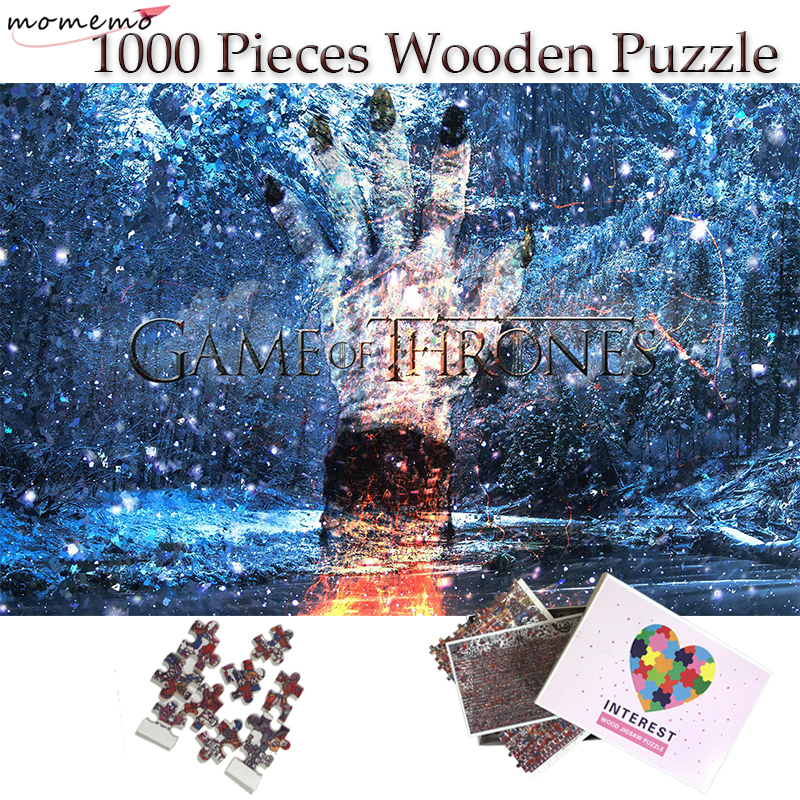 MOMEMO Game Of Thrones Jigsaw Puzzle Toys 1000 Pieces Wooden Puzzle Diy Spell Puzzle Toys For Adults Children Teenagers Gifts