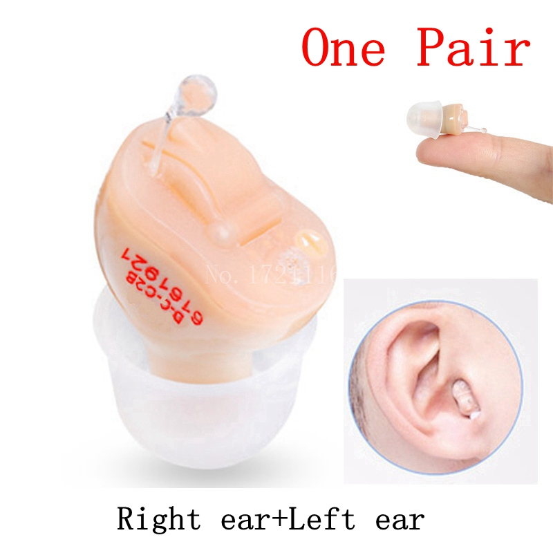 2PCS NEW CE FDA Small Inner Ear Invisible Hearing Aid Aids CIC Mini Inside The Ear Sound Amplifier Dropshipping ce fda approved best digital tone hearing aids aid behind the ear sound amplifier brand new