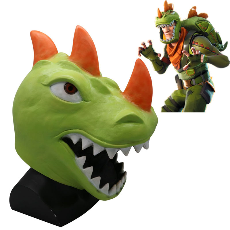 Game Battle Royale Rex Cosplay Mask Green Dinosaur Full Face Masks Women Men Halloween Helmet Gifts