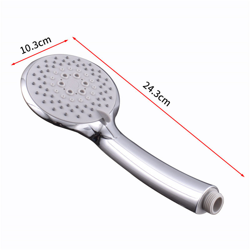 WEYUUU Shower Head Five-Function Chrome Finish Wholesale and Retail  High Pressure Bathroom Hand Held Round Shape Shower Head