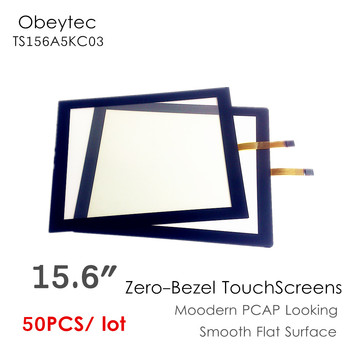 """50PCS! Obeytec 15.6"""" Zero bezel Touchscreens, Capacitive touch screen looking, 5wires resistive touch panel, TS156A5KC03"""