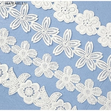 HAWARULU 2yard DIY Computer embroidery water-soluble lace spot milk silk childrens underwear accessories wedding decoration