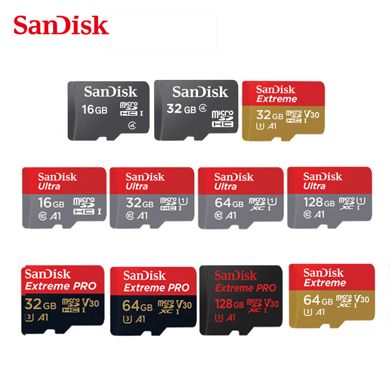 Original Sandisk Micro SD 16GB 32GB 64GB 128GB 200GB 256GB MicroSDHC/SDXC UHS I Ultra C10 TF card C4 16G 32G Cartao de Memoria-in Micro SD Cards from Computer & Office