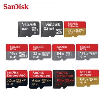 Original Sandisk Micro SD 16GB 32GB 64GB 128GB 200GB 256GB MicroSDHC/SDXC UHS-I Ultra C10 TF card C4 16G 32G Cartao de Memoria