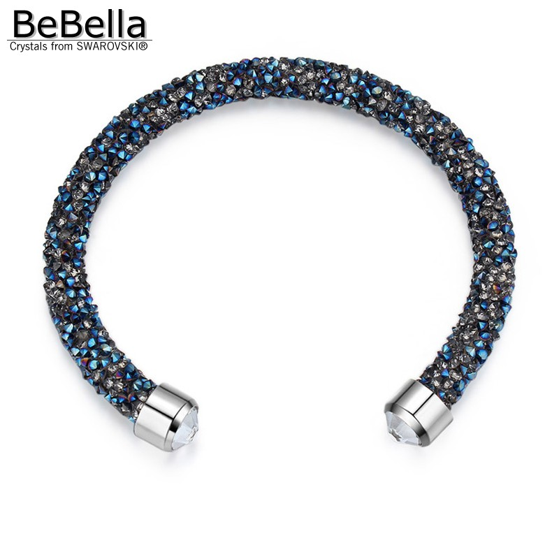 76b92dff8a BeBella crystal rocks dust thin cuff bracelet open bangle with crystals  from Swarovski for women girls fashion jewelry gift 2018
