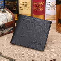 2017 New Brand Fashion Men S First Layer Of Genuine Cow Leather Short Wallet Korean Business