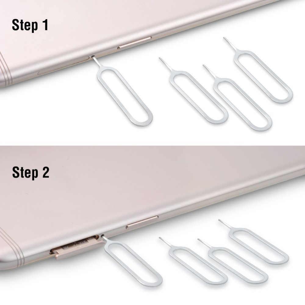 Ahowie 10PCS USB ซิมการ์ดอะแดปเตอร์สำหรับ HUAWEI Mate 20 Pro P20 X ซิมการ์ดถาดเปิดสำหรับ Samsung s9 S8 Plus IPhone X 8 EJECTOR PIN