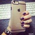"""Hk-style cajas del teléfono para el iphone 6 caso 4.7 """" tapa trasera transparente para el iphone 6 más la caja de 5.5 pulgadas duro negro blanco venta al por mayor"""