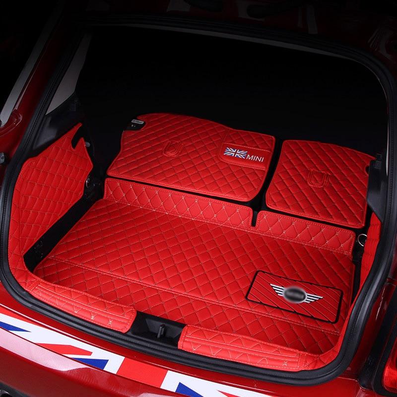 Tapis de coffre de voiture tapis en cuir pour BMW MINI COOPER S ONE F54 F55 F56 F57 F60 F60 CLUBMAN accessoires de décoration de style intérieur - 3