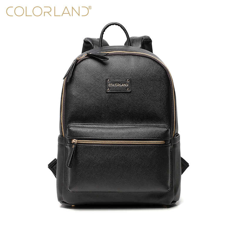 eba01acdd1 Colorland PU Leather Baby Bag Organizer Tote Diaper Bags Mom Backpack  Mother Maternity Bags Diaper Backpack