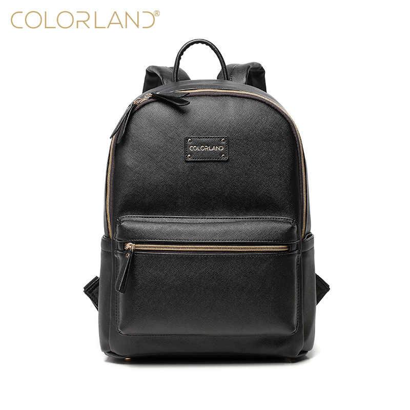 5789a12c6d1b Colorland из искусственной кожи Детская сумка-Органайзер Tote Сумки для  подгузников мама рюкзак мать Средства
