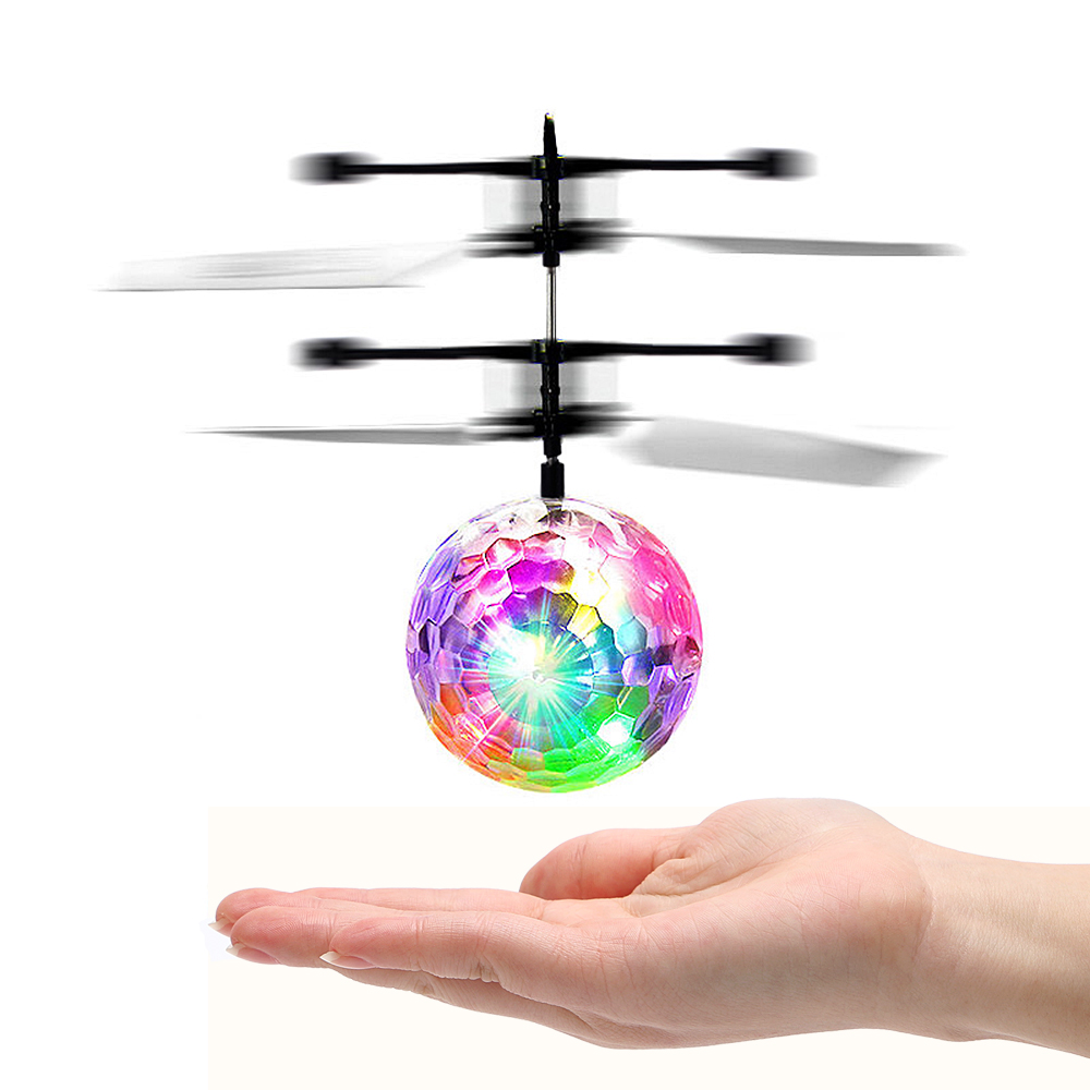 Flying Ball Luminous Lighting Mini Helicopter LED Light Lamp Novelty Lighting Remote Control Electronic Infrared Induction