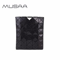 MUSAA Black Diamond Folding Clutch Bags for Girl Personality Fashion Refreshing Female Women PU Leather Bag New Collection