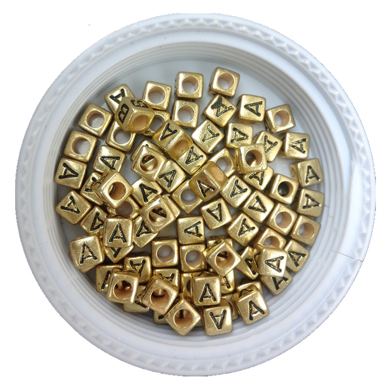 Beads Beads & Jewelry Making 500pcs 2600pcs 6*6mm Gold Color Acrylic Plastic Letters Beads Single English Character Initial Z Printing Jewelry Pacer Beads