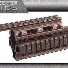 Векторная оптика AK RIS Handguard Quad Rail system Mount fit AK 47& 74 Жженый бронзовый цвет для лазерного фонарика прицел винтовки прицелы