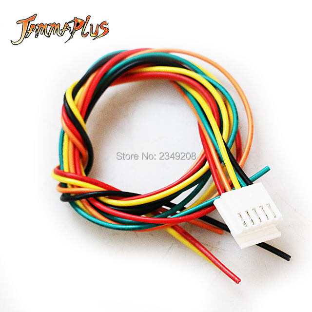2pcs 35mm sanwa joystick cable 5 pin connector wiring for arcade rh aliexpress com 5 pin wiring harness for utility trailer 5 pin connector harness